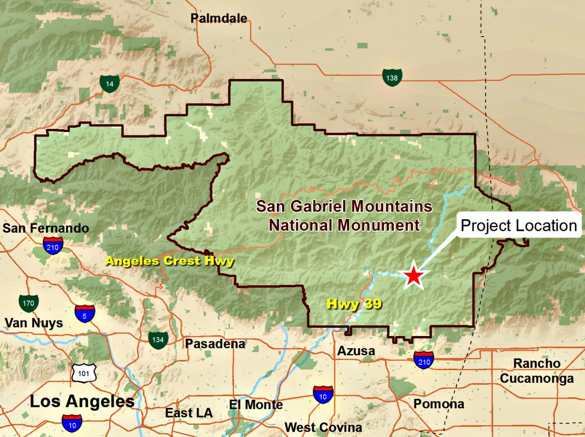 Azusa Canyon Fire Map.The East Fork Project New Plans For Popular San Gabriel River Site